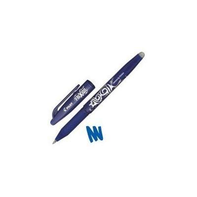 Pilot pen: FriXion Rollerball Pen with Eraser and Rewriter 0.7mm Tip 0.5mm Line Blue - Blauw