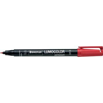 Staedtler Permanente universele pen S Marker - Zwart, Rood
