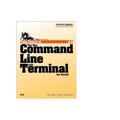 Tidbits publishing boek: TidBITS Publishing, Inc. Take Control of the Mac Command Line with Terminal - eBook (PDF)