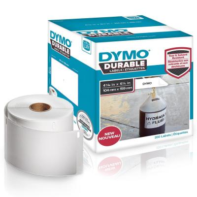 Dymo adreslabel: DURABLE Extra Large Shipping Labels, 104x159mm - Wit