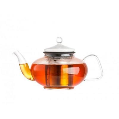 Bredemeijer teapot: Genoa - Roestvrijstaal, Transparant