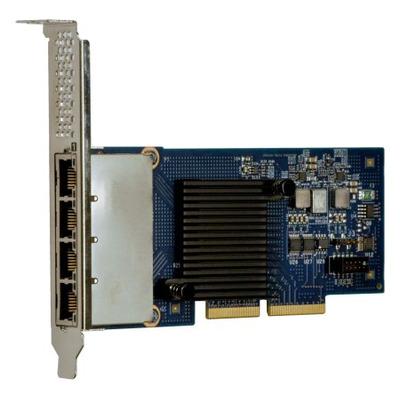 Lenovo netwerkkaart: I350-T4 ML2 - Aluminium, Zwart, Blauw