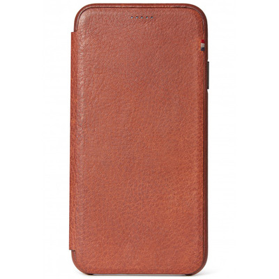 Leather Slim Wallet iPhone Xs / X - Bruin - Bruin / Brown Mobile phone case