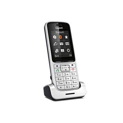 Gigaset telephone headset: SL450H Aluminium - Aluminium, Zwart