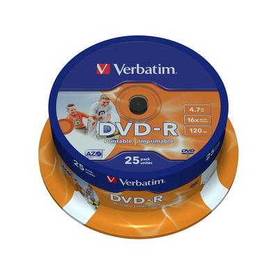 Verbatim DVD-R Wide Inkjet Printable ID Brand, 16x DVD