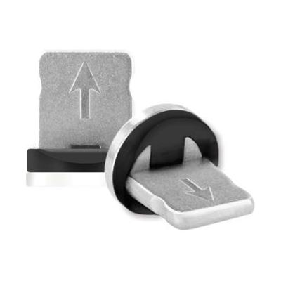 Mobiparts Magnetic Apple Lightning Connector - Zwart, Zilver