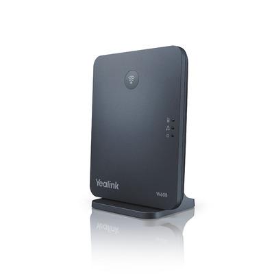 Yealink 8 VoIP accounts, Caller ID, 1880 – 1900 MHz, RJ45, Black Dect basisstation - Zwart