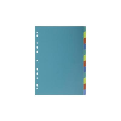 Exacompta schutkaart: A4, 12 tabs, 21x29.7cm - Multi kleuren