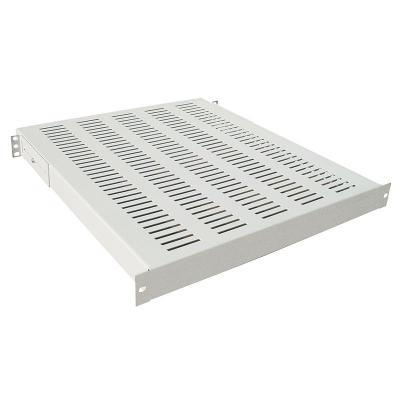 "LogiLink 19"" Heavy Duty Fixed Shelf d=400mm, grey Rack toebehoren - Grijs"