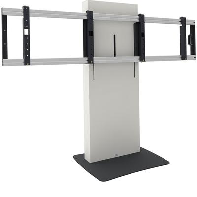 SmartMetals Business & VC statief statisch, max 2x 65 inch max. 100 kg Monitorarm - Zwart, Wit
