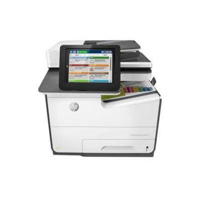 HP multifunctional: PageWide Enterprise Color MFP 586f - Zwart, Cyaan, Magenta, Geel (Demo model)