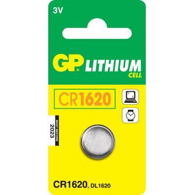 Gp batteries batterij: Lithium Cell CR1620 - Roestvrijstaal