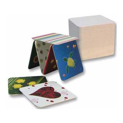 Folia speelkaart: BIERVILTEN WIT VIERKANT 100X