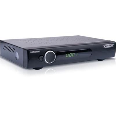 Schwaiger ontvanger: DVB-S2, 1080p, DiSEqC 1.0/1.2, SCART, 950 - 2150 MHz, 218 x 120 x 40 mm, 400 g - Zwart