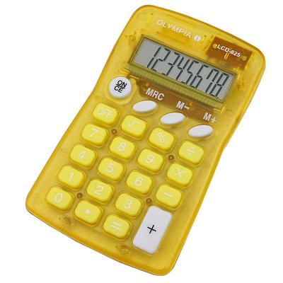 Olympia LCD 825 Calculator - Geel