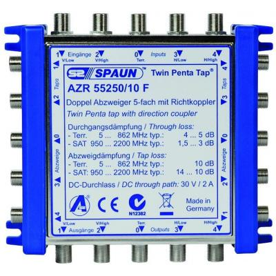 Spaun AZR 55250/10 F Kabel splitter of combiner - Blauw