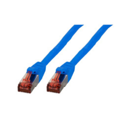 EFB Elektronik RJ45 Patch cable S/FTP, Cat.6, PVC, CCA, 1m, blue Netwerkkabel - Blauw