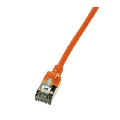 LogiLink Slim U/FTP Netwerkkabel - Oranje