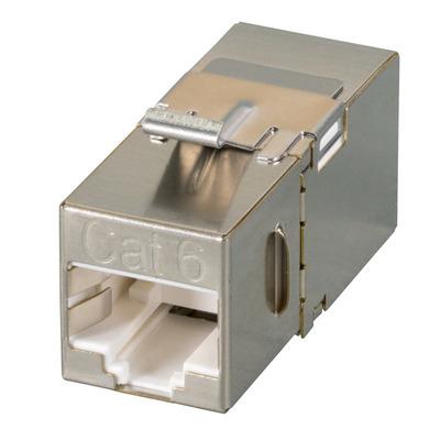 EFB Elektronik Keystone Snap-In Adapter RJ45 STP, Cat.6A, 90° access Kabel adapter - Roestvrijstaal