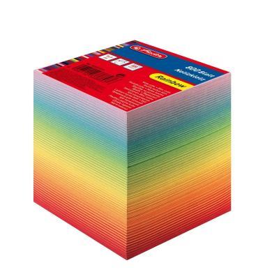 Herlitz note cube 800 sheets 9x9x8,5 cm rainbow coloured in layers Zelfklevend notitiepapier - Multi kleuren
