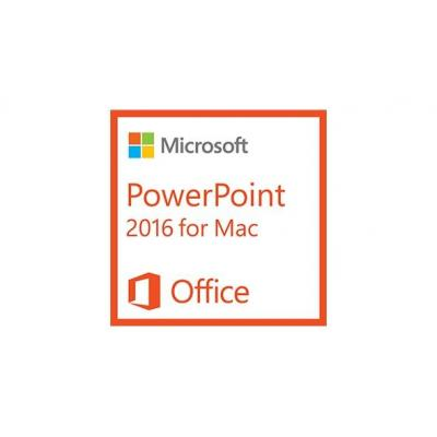 Microsoft software: PowerPoint 2016 for Mac, 1u