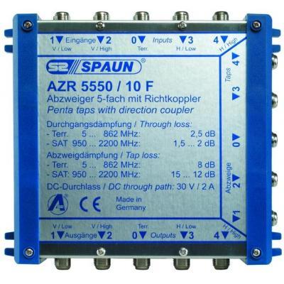 Spaun AZR 5550/10 F Kabel splitter of combiner - Blauw