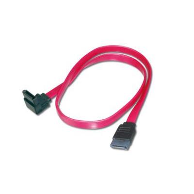 Assmann electronic ATA kabel: 2x SATA 7-pin, 0.5 m - Zwart, Rood