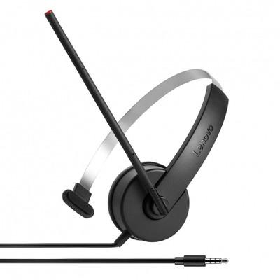 Lenovo Mono Analog headset - Zwart