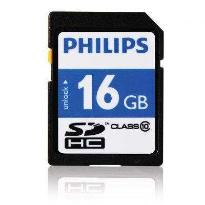 Philips flashgeheugen: SD-kaarten FM16SD45B/10 - Zwart