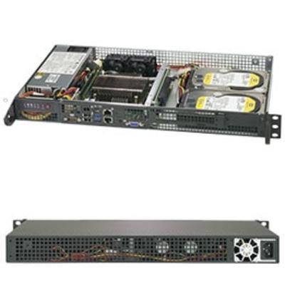Supermicro SuperServer 5019C-FL Server barebone - Zwart