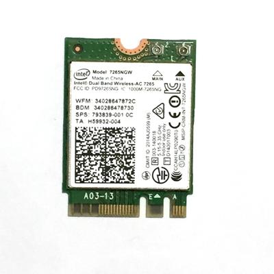 Intel Dual Band Wireless-AC 7265 - M.2 Card Netwerkkaart - Groen