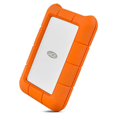 Lacie externe harde schijf: Rugged USB-C - Oranje, Zilver