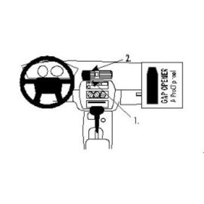 Brodit ProClip for Mitsubishi Galant 99-03 Houder - Zwart