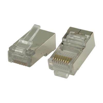 Valueline kabel connector: RJ45 connectors for solid STP CAT5 cables - Zilver