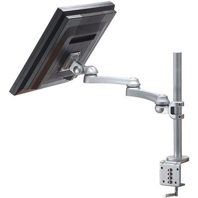 ROLINE LCD, 4 draaipunten, tafelmontage Monitorarm - Zilver