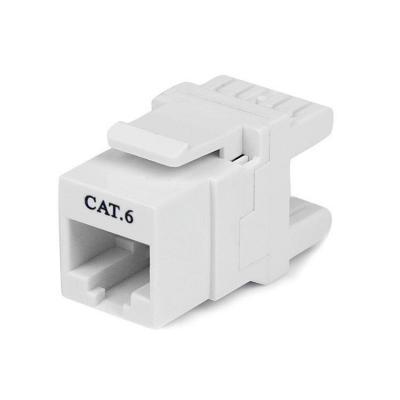 Startech.com kabel connector: 180° Cat6 Contactbus RJ45 Ethernet Cat6 Wandcontactbus Wit Type 110