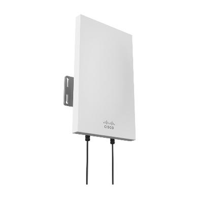 Cisco Meraki 2.4 GHz Sector Antenna, 11 dBi, 2 x N-type, UV Resistant Plastic Antenne - Wit