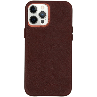 Decoded Leather Backcover iPhone 12 Pro Max - Chocolate Brown - Bruin / Brown Mobile phone case