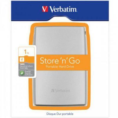 Verbatim externe harde schijf: Store'n'Go USB 3.0 1TB - Zilver