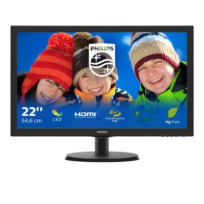 Philips V Line LCD-met SmartControl Lite 223V5LHSB2/00 Monitor - Zwart