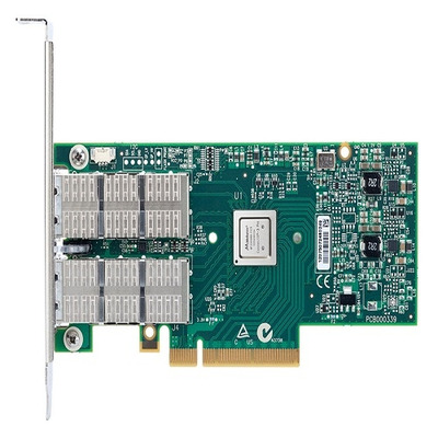 Dell interfaceadapter: Mellanox ConnectX-3, Dual poort, VPI FDR, QSFP+ adapter - laag profiel - Groen