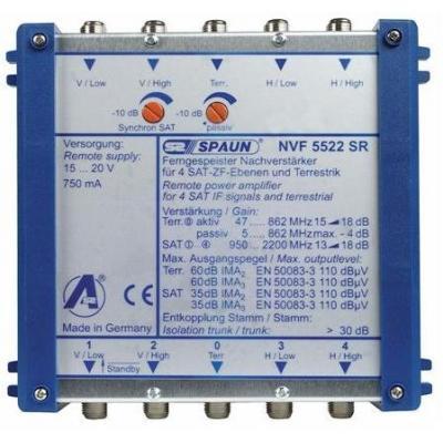 Spaun NVF 5522 SR Signaalversterker TV - Blauw