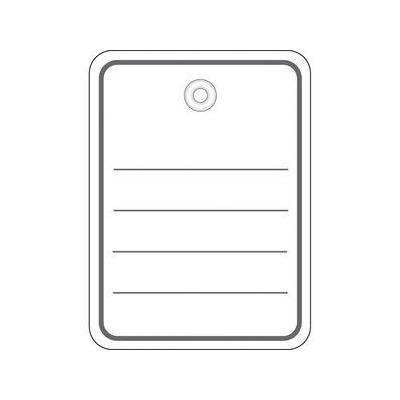 Herma label: Productlabel 48x65 mm met Plasticoogje / draad 1000 St. - Grijs, Wit