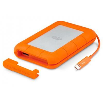 LaCie : Rugged 500GB - Grijs, Oranje
