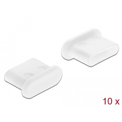 DeLOCK Dust Cover for USB Type-C™ female without grip 10 pieces, white