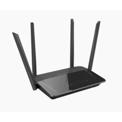 D-link wireless router: AC1200 Dual Band - Zwart
