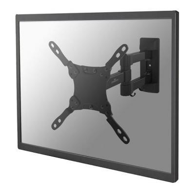 """Newstar montagehaak: De NM-W225BLACK is een wandsteun met 3 draaipunten voor flat screens t/m 32"""" (80 cm) - Zwart"""