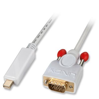 Lindy Mini DisplayPort - VGA, 1m - Wit