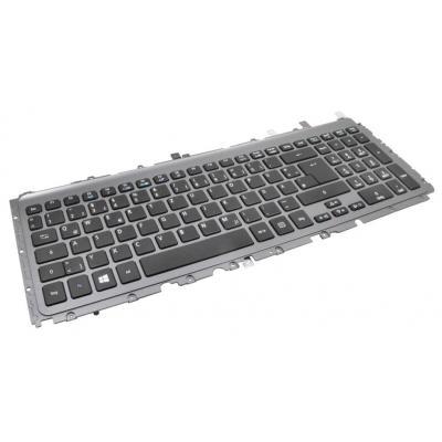 Acer notebook reserve-onderdeel: Keyboard (US/International), Black - Zwart
