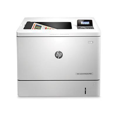 Hp laserprinter: LaserJet Managed M553dnm - Zwart, Cyaan, Magenta, Geel